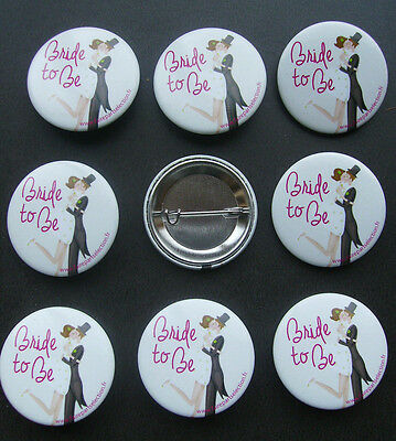 X 9 badges mariage Bride to be
