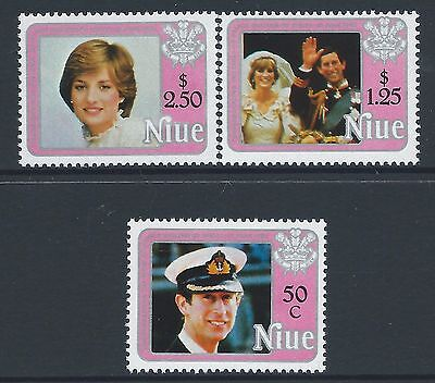 1982 Niue Birth Of Prince William Set Of 3 Fine Mint Muh/mnh