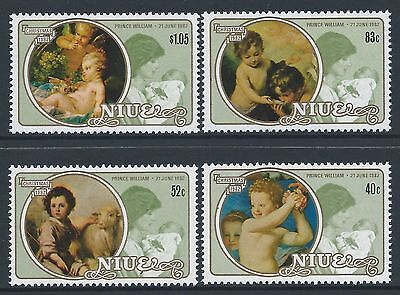 1982 Niue Christmas/royalty Set Of 4 Fine Mint Muh/mnh