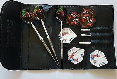 "Red Dragon Peter ""Snakebite"" Wright PL15 90% Tungsten Darts 24g USED"