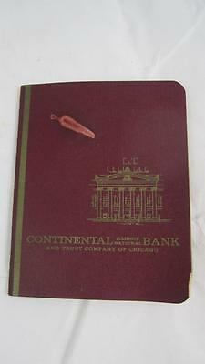 Vintage Bank Passbook Continental Illinois National Bank & Trust Company Chicago