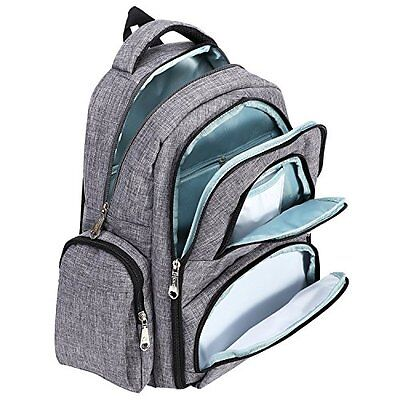 Imyth Travel Baby Diaper Bag Large Capacity Backpack16 Waterproof Pockets Gray