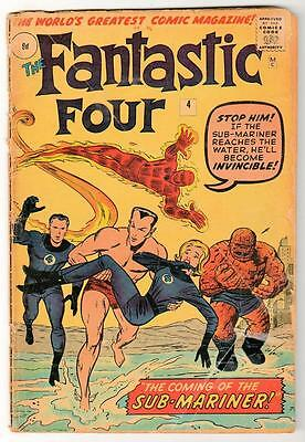 Marvel Comics G+  2.5   FANTASTIC FOUR  #4 1st  SUB MARINER Namor