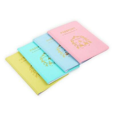 Travel Utility Simple Passport ID Card Cover Holder Case Protector PVC Skin