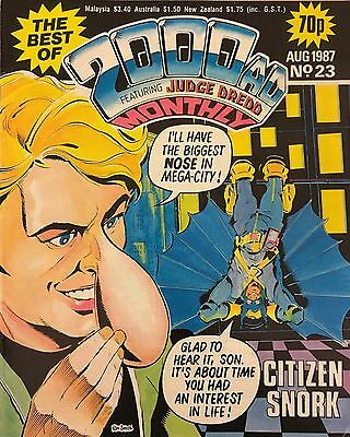 THE BEST OF 2000 AD JUDGE DREDD COMIC | August 1987 No. 23