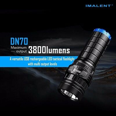 IMALENT DN70 XHP70 3800LM 26650 LED Flashlight Tactical Rechargeable Torch