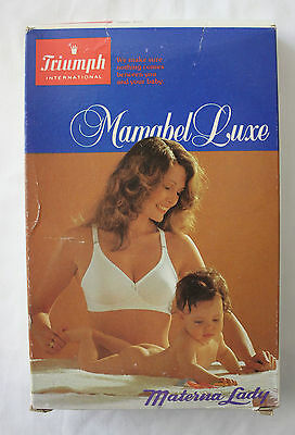 VINTAGE 1970's TRIUMPH Mamabel Deluxe Maternity Nursing Bra 10C in Original Box