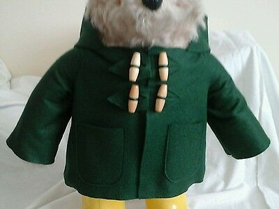 NEW BOTTLE GREEN COAT for YOUR Gabrielle Paddington Bear  (see other listings )