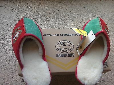 NRL  Ugg Rabbitohs Slippers Size  M8 AU/US Unisex   Size 7 UK  Rugby League New