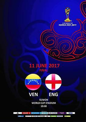 Programme Venezuela v England 11.06.2017 U-20 World Cup, FINAL. Unofficial
