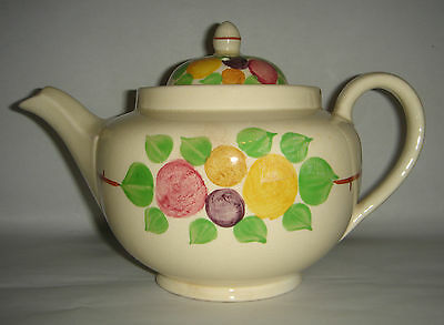 Ridgway Teapot ~ Display Only ~ California 6962 Hand Painted Bedford Ware c.1950