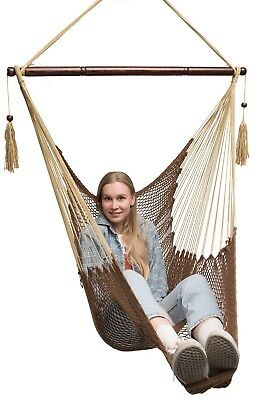 Mayan Hammock Chair By Krazy Outdoors   Large Hanging Swing Chair Cotton  Rope
