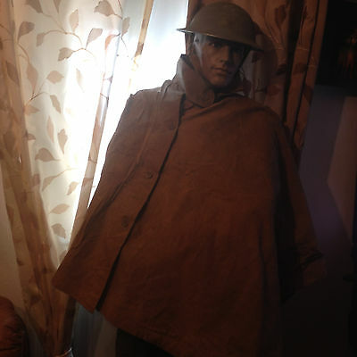 WW1 1917 Pattern British Army Rain Cape Ground Sheet Poncho Original.