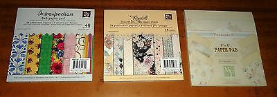 CRAFT Wedding Favours CARD MAKING Patterned Paper 6 x 6 Pad (3) 32 and 48 Sheets