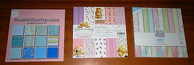 CRAFT Wedding CARD MAKING Patterned Paper 6 x 6 Pad (3) 32, 50 and 43 Sheets