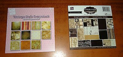 CRAFT Wedding CARD MAKING Patterned Paper 6 x 6 Pad (2) 32 and 48 Sheets