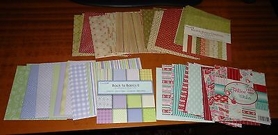 CRAFT Wedding CARD MAKING Patterned Paper 6 x 6 Loose PAD SHEETS (150+) # 3