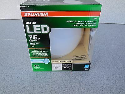 New Sylvania Ultra Led 75W Recessed & Surface Mount 3000K Wide Flood Light Kit
