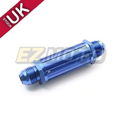 AN-6 AN06 Blue Anodised Billet Magnetic Fuel Filter 30 Micron AN6 Dash 6