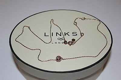 Genuine Links Of London Wimbledon Tennis Ball18Ct Rose Gold Vermeil45Cm Necklace