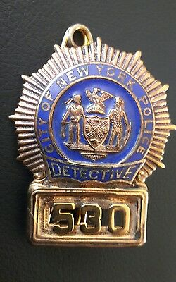 obsolete NYPD DETECTIVE BADGE