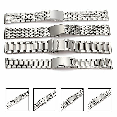 Stainless Steel Bracelet Watch Strap Band 4 Types 18mm-26mm
