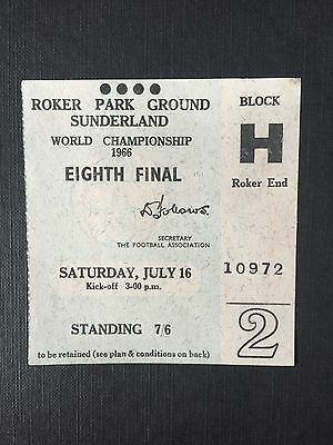 Soviet Union vs Italy 1966 World Cup Ticket Played At Roker Park