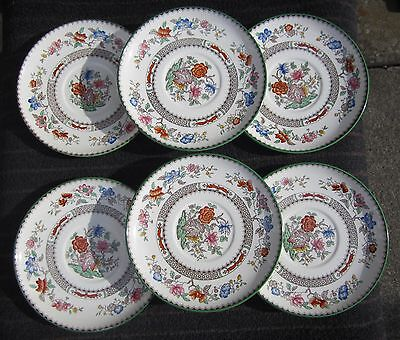 """Copeland Spode """"Chinese Rose"""" large saucers for soup bowls vintage good to use"""
