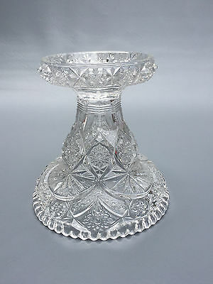 Antique clear pressed glass punch bowl stand / base 1890's 1900's