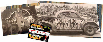 CD_2972 #7 Jim Reed 1940 Ford coupe  1:24  Scale Decals