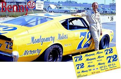 CD_2314 #72 Benny Parsons  1974 Ford Torino    1:25 Scale Decals
