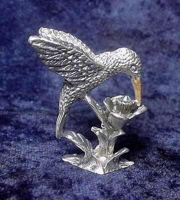 Pewter Hummingbird with Crystal Accent
