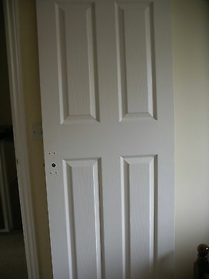 9 x white 4 panel textured internal moulded doors