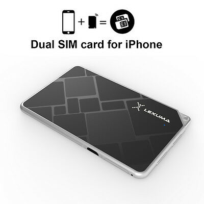 10M-15M Smart Wireless Bluetooth Dual Sim Card Adapter For Apple Iphone 7 Chic