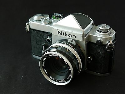 Nikon F2 Eye Level Plain Prism SLR Camera with Nikkor 50mm f/2 Lens
