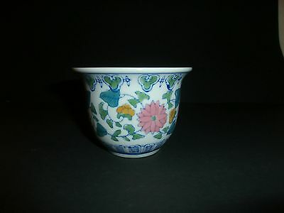Vintage Small Chinese Planter Flower Pot
