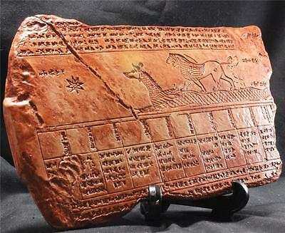 BABYLONIAN ASTRONOMICAL ALMANAC Cuneiform Tablet 200 BC historical replica