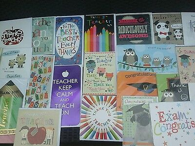 50 teacher/exam cards, wholesale joblot greeting cards