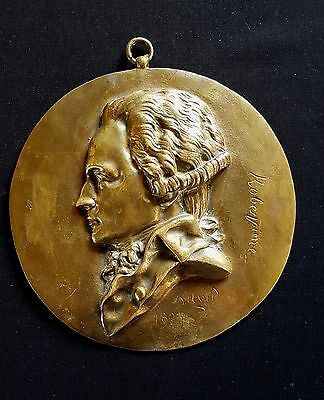 France – ROBESPIERRE  1803 Cast bronze medallion plaque by David d'Angers