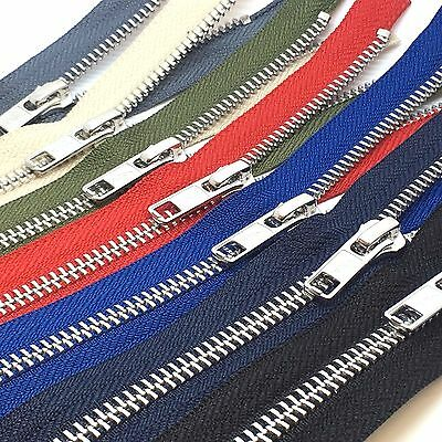 Ykk Metal Teeth Open Ended Zips Zippers ( Choice 17 Zip Lengths & 9 Colours)