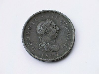1807 George III Copper Penny Coin