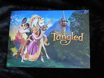 Disney Store Exclusive Tangled Rapunzel Set Of 4 Lithographs With Folder~NEW