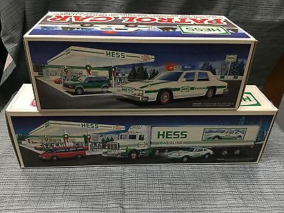 Hess Toy Trucks.  1992 And 1993 Set Of 2 Brand New Mint  In Boxes