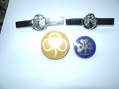 Four Girl Guide And Brownie Enamel Pin Badges