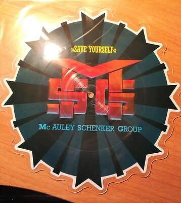 Mc Auley Schenker Group - Save Yourself - Emi Limited Shaped Picture Disc Rare