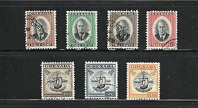 Grenada -- 7 different used from 1951 -- catalog $12.20