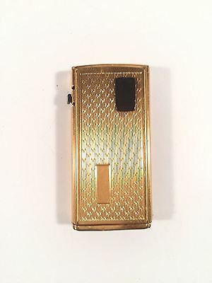 Ronson Varaflame Electronic Lighter Vintage Gold Tone Style Made In England