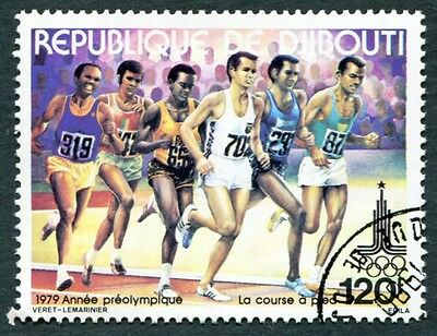 DJIBOUTI 1979 120f SG772 used NG Olympic Games Moscow Running a #W29