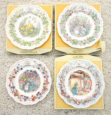 Royal Doulton Brambly Hedge 8inch Plate Four Seasons Spring Summer Autumn Winter