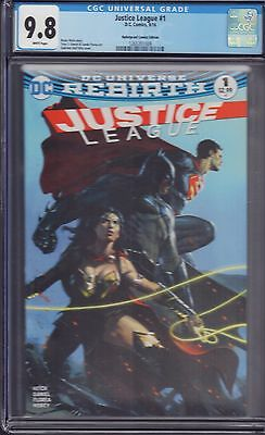 Justice League #1 Dell'Otto Bulletproof Comics Color Variant  CGC 9.8!